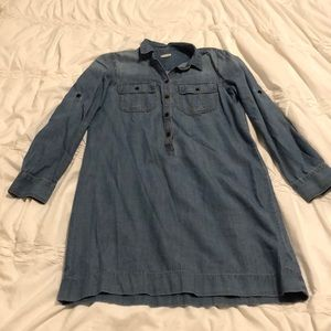 Jcrew chambray dress size 6. Excellent condition!